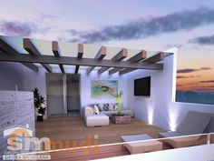 Pergola Kits With Canopy Product Home Room Design, House Design, Pretty House, Rooftop Terrace Design, Terrace Garden Design, Modern Style House Plans, House Construction Plan, Terrace Floor, Balcony Design