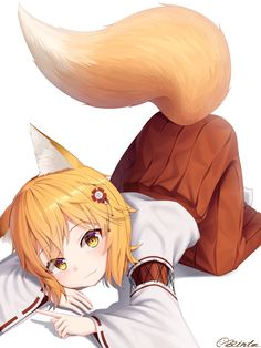 Ready to Fluff [Sewayaki Kitsune no Senko-san] Lolis Neko, Anime Neko, Kawaii Anime Girl, Anime Art, Anime Wolf Girl, Manga Girl, Anime Titles, Anime Characters, Cute Neko Girl