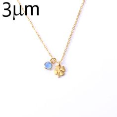 Clover Necklace for Women Personalized 12 Months Birthstone Four Leaf Clover Pendant Necklace mother birthday Minimal Jewelry //Price: $US $5.68 & FREE Shipping //     #hashtag1