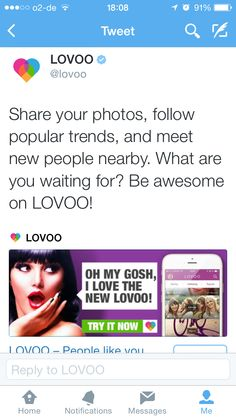 OH MY GOSH! #LOVOO Twitter campaign - new V3 launch
