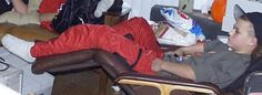 """Darrell Mullen in the """"comfy chair"""" at our friend Greg's house. Look Cool, Fashion Pictures, Parachute Pants, Harem Pants, Comfy Chair, Leather Jacket, Guys, People, House"""