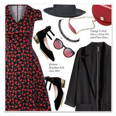 """""""sweet cherries"""" by paculi ❤ liked on Polyvore featuring Zara, H&M and Kate Spade"""
