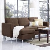 Small Spaces Configurable Sofa Sectional - $488 choc/gray or $502 black leather