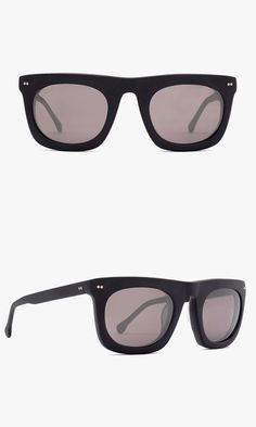 STEVEN ALAN / OPTICAL BERGEN SUNGLASSES - Almost twice as thick as your typical sunglasses, this pair will keep you cool all season long with a strong rectangular design and UV protective lenses.