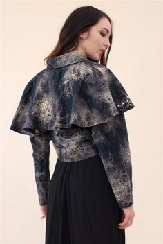 The Circle Studded Capelet Jacket