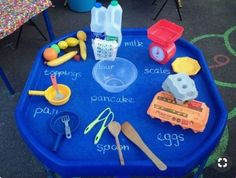 Ready for pancake day - we love this! Develop children's numeracy, measuring and teamwork skills with this fun pancake day inspired tuff spot tray activity. Sign up for a free Twinkl account to download our 'Numbers 0 - 31 on Pancakes' and add another educational element! #maths #mathematics #numeracy #tufftray #tuffspot #pancakes #pancakeday #eyfs #school #education #teach #teacher #twinkl #twinklresources #freeprintablesforkids #homeeducation #childminders #parenting