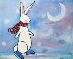 Ice+Skating+Rabbit by+andralynn