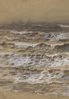 Samuel Palmer - Study of Waves (detail)