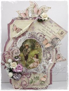 A romantic card by Tracy using the new Linnaeus Botanical Journal collection