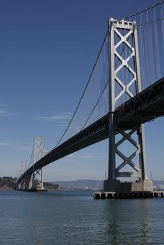 Bay Bridge, California - drove it right before it closed for a week for the new span!  Had to take the San Mateo Bridge to leave the San Francisco area.