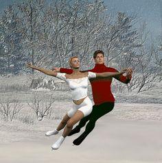 Ice skating graphics