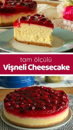 Video explanation Cherry Cheesecake (NON-CRACKED FULL SIZE) How to make a recipe? Here is the video narration of people's book and the photographs of those who have tried it. Author: Yasemin Atalar recipes for two recipes fry recipes Lemon Cheesecake Recipes, Tart Recipes, Dessert Recipes, Desserts, Yummy Recipes, Mousse Au Chocolat Torte, Pasta Cake, Mini Cheesecakes, Dessert Bars