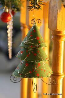 Full of Great Ideas: Scrapbook paper tree ornament (http://fullofgreatideas.blogspot.com/2010/11/scrapbook-paper-tree-ornament.html)