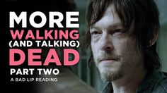 Funny bad lip reading of the Walking Dead - Season 4 TV show. Walking Dead Season 4, Walking Dead Tv Series, Walking Dead Funny, The Walking Dead 3, Twd Memes, Talking To The Dead, Dead Zombie, Stuff And Thangs, Can't Stop Laughing