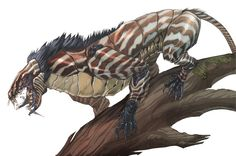 This is a Grigora they are fast stealthy beasts that live in Forgotten Lands that hunt on their own, Hard to tame Alien Concept Art, Creature Concept Art, Fantasy Monster, Monster Art, Alien Creatures, Magical Creatures, Creature Feature, Creature Design, Fantasy Beasts