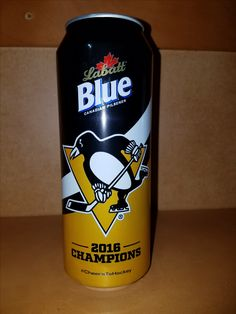 "Pittsburgh Penguins 2016 Labatt Blue Light "" 2016 Stanley Cup Champs "" 24 oz can. Lets Go Pens, Hockey Teams, Stanley Cup, Pittsburgh Penguins, Champs, Lights, Canning, Bottle, Blue"