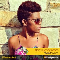 Thirsty Roots InstaFeature: Short Natural haircut hairstyle for black women – @fancyrobot