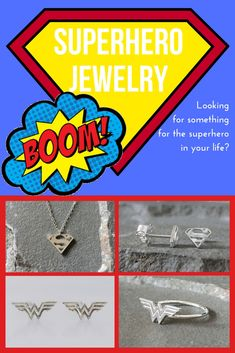 Jewelry for the Wonder Woman or Supergirl in your life