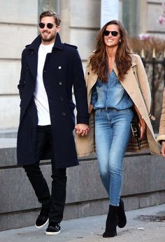 38 Winter Date Outfits To Copy Now Style & Tips For Women casual first date outfit - Casual Outfit First Date Outfit Casual, Winter Date Outfits, First Date Outfits, Casual Outfits, Outfit Winter, Casual Winter, Club Outfits, Double Denim, Trench Coat Outfit