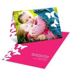 Easter Photo Cards -- Fluttering Silhouette #easterideas #spring #peartreegreetings
