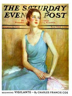 Saturday Evening Post - 1933-02-04: Blue Dress (Charles W. Dennis)