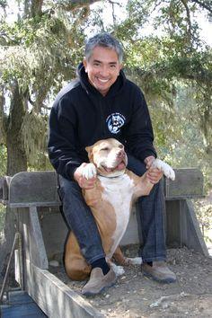 Cesar Millan and the late, great Daddy Grey Pitbull Puppies, Pitbull Terrier, Cesar Millan, Tru Love, American Bulldog Mix, Milan, Kissy Face, Dog Whisperer, Bully Dog