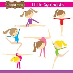 Afro Gymnastics / Gymnast Girl Clip Art | Creative, Clip art and Girls