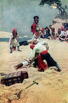 A disagreement on the beach...  Howard Pyle