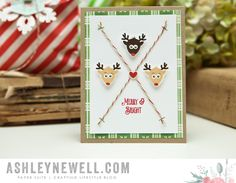 Merry & Bright Card by Ashley Cannon Newell for Papertrey Ink (October 2015)