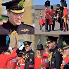 This morning Prince William, Duke of Cambridge attended the annual St. Patrick's Day celebrations, where he presented sprigs of shamrock to the Irish Guards, of which he is Colonel. | March 17th, 2016