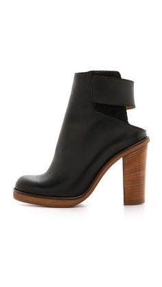 MM6 Maison Martin Margiela Open Back Booties
