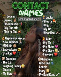 Cute Snapchat Names, Noms Snapchat, Contact Names For Boyfriend, Cute Names For Boyfriend, Name For Instagram, Instagram Quotes, Usernames For Instagram, Funny Contact Names, Funny Nicknames For Friends