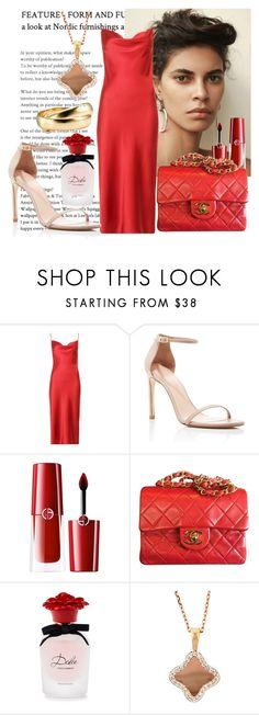 """visit"" by fashionista-763 on Polyvore featuring мода, Fleur du Mal, Stuart Weitzman, Giorgio Armani, Chanel и Dolce&Gabbana"