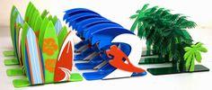 Porta Guardanapo em acrílico SURF