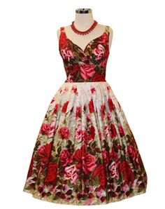 Elizabeth English rose is a Vintage inspired dress from Retrospec'd. Other Vintage inspired dresses are available in our store.