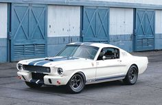 """This photo from 2003 shows how the first Shelby Mustang (known as the """"Street Prototype"""" or appeared prior to its recent restoration. Looking very much the competition part, it provided huge fun for several different drivers over the years. Ford Mustang Fastback, Mustang Cobra, Ford Mustangs, Classic Mustang, Ford Classic Cars, Ford Mustang Shelby, Ford Gt, Muscle Cars, Dodge"""