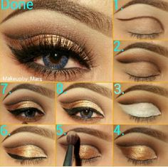 Step by step eye #makeup