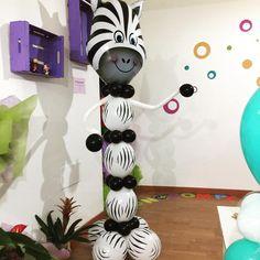 Una simpatica zebra di palloncini per abbellire il party di compleanno del tuo bambino
