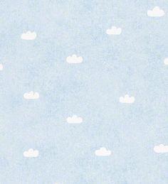 Papel pintado para bebés - infantil nubes con fondo celeste - 40573
