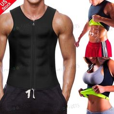 3a518d25b Men Weight Loss Waist Trainer Vest Sauna Sweat Body Shaper Tank Slimmer  Trimmer  fashion