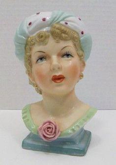 Vintage UCAGCO Lady Head Vase