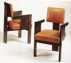 A pair of André Sornay armchairs in rosewood; circa 1930