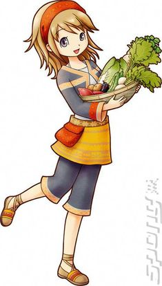 View an image titled 'Konohana Girl Art' in our Harvest Moon: The Tale of Two Towns art gallery featuring official character designs, concept art, and promo pictures. Kid Character, Character Design, Character Drawing, Character Inspiration, Girls Characters, Anime Characters, Harvest Moon Game, Rune Factory 4, Moon Photography