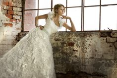 Wedding Dress Photos - Find the perfect wedding dress pictures and wedding gown photos at WeddingWire. Browse through thousands of photos of wedding dresses. Pretty Wedding Dresses, Wedding Dress Pictures, Perfect Wedding Dress, Unique Dresses, Wedding Wear, One Shoulder Wedding Dress, Wedding Gowns, Fall Wedding, Essense Of Australia Wedding Dresses