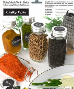 Amazon.com: Spice Labels for Jars - Round Labels for Jars - Fit Karmentstein Spice Jars and Labels for Use in Spice Racks - Blank To Customize: Kitchen & Dining