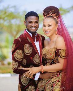 Igbo Bride, Bride Veil, Bride Gowns, Bride Groom, Traditional Wedding Attire, African Traditional Wedding, Traditional Dresses, African Wedding Attire, African Attire