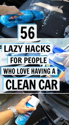 Here are 56 budget-friendly and cool DIY car cleaning hacks that'll make cleaning your car easier. You'll wish you'd known about these sooner! Diy Car Cleaning, Household Cleaning Tips, Deep Cleaning Tips, House Cleaning Tips, Spring Cleaning, Cleaning Lists, Cleaning Schedules, Speed Cleaning, Weekly Cleaning