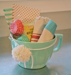 adorable batter bowl filled with baking goodies