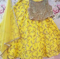 Yellow deress order contact my whatsapp number 7874133176 Indian Bridal Outfits, Indian Bridal Lehenga, Indian Bridal Fashion, Indian Designer Outfits, Indian Dresses, Red Lehenga, Lehenga Choli, Anarkali, Yellow Lehenga