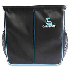 Carnizer Car Garbage Bag -  Keep your vehicle cleaner than ever with a compact car garbage bag that fits your smallest spaces!. Available in black.